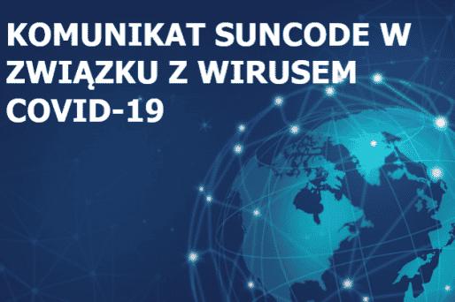 Oficjalny komunikat Suncode w związku z COVID-19